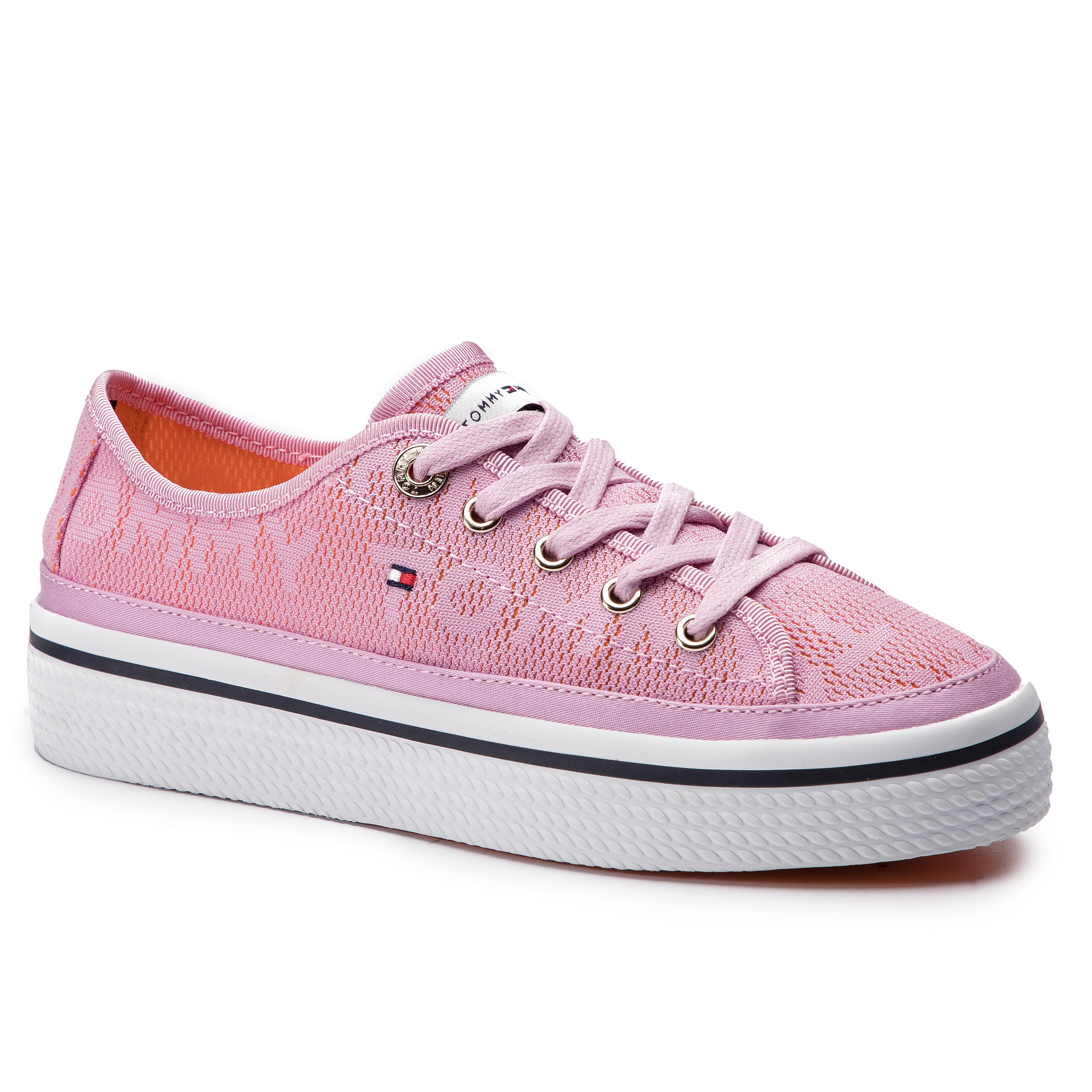 8169ef0ffc ... TOMMY HILFIGER - Jacquard Flatform Sneaker FW0FW04071 Pink Lavender  518. -8%. Tenisky ...