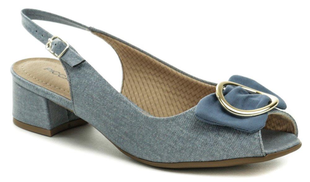 6ad079b94 Piccadilly 114011 modré dámské sandály na podpatku - Glami.cz