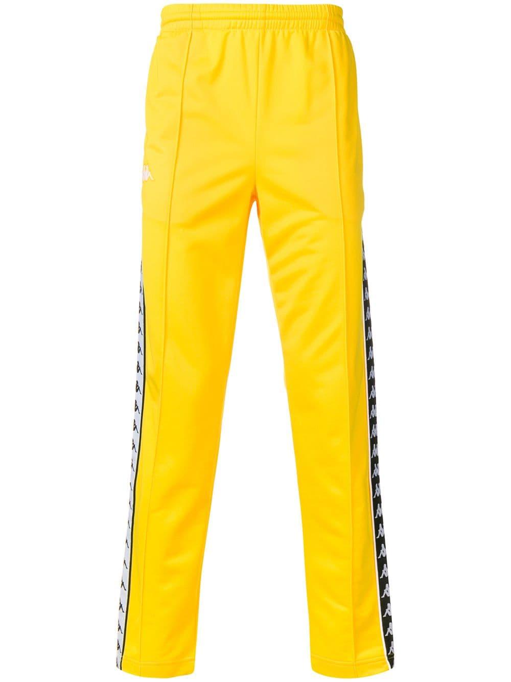 f57e93242 Kappa logo tape detail track pants - Yellow - Glami.cz