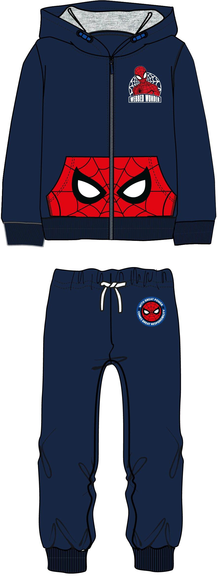 2741d09a9b34 Disney by Arnetta Chlapčenská tepláková súprava Spiderman - modrá ...