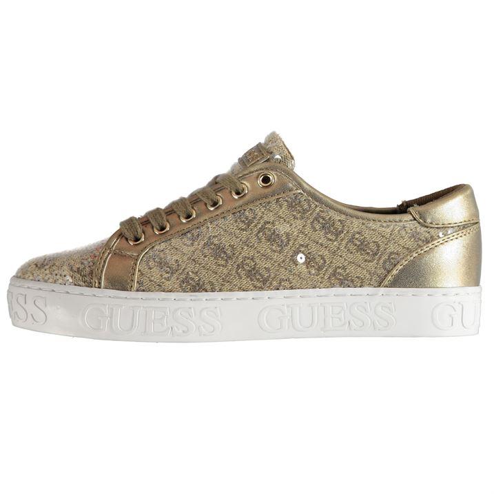 4267d41c60 Dámské boty Guess Grazer Zlaté - Glami.cz