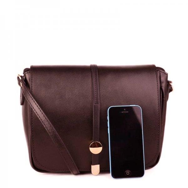 20543d544837 -10% -9%. TALIANSKE Talianska dámska kožená kabelka cez plece crossbody  čokoládová Aurélia