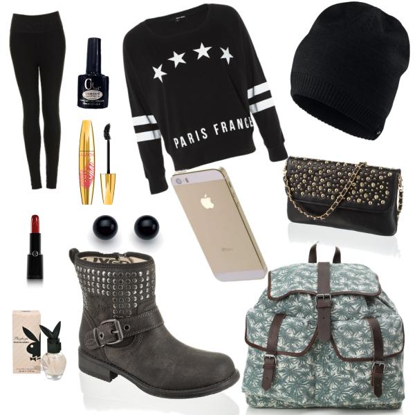 normální oblečení do školy