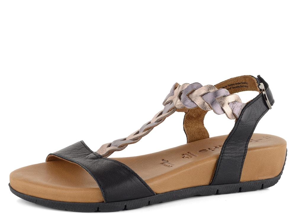 e2a6254fa7b3 Tamaris sandály černé na klínku 1-28231-22 - Glami.cz