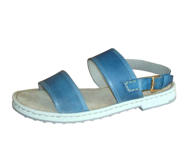 d73a5bf3d3 Modré sandále na nízkom podpätku Rizzoli - Glami.sk