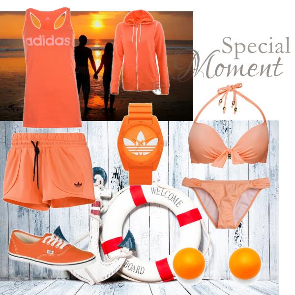 Orange on swimming