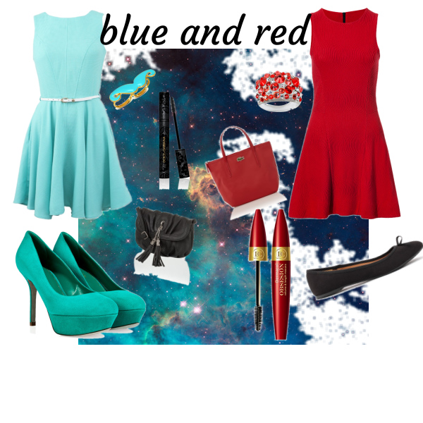 blue and red