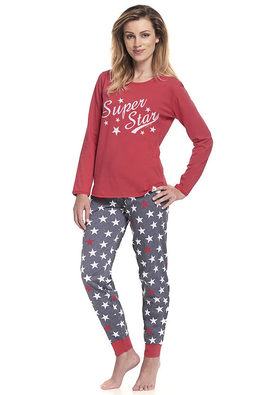 db0db6e7f DN Nightwear Dámske bavlnené pyžamo Sookie červené - Glami.sk