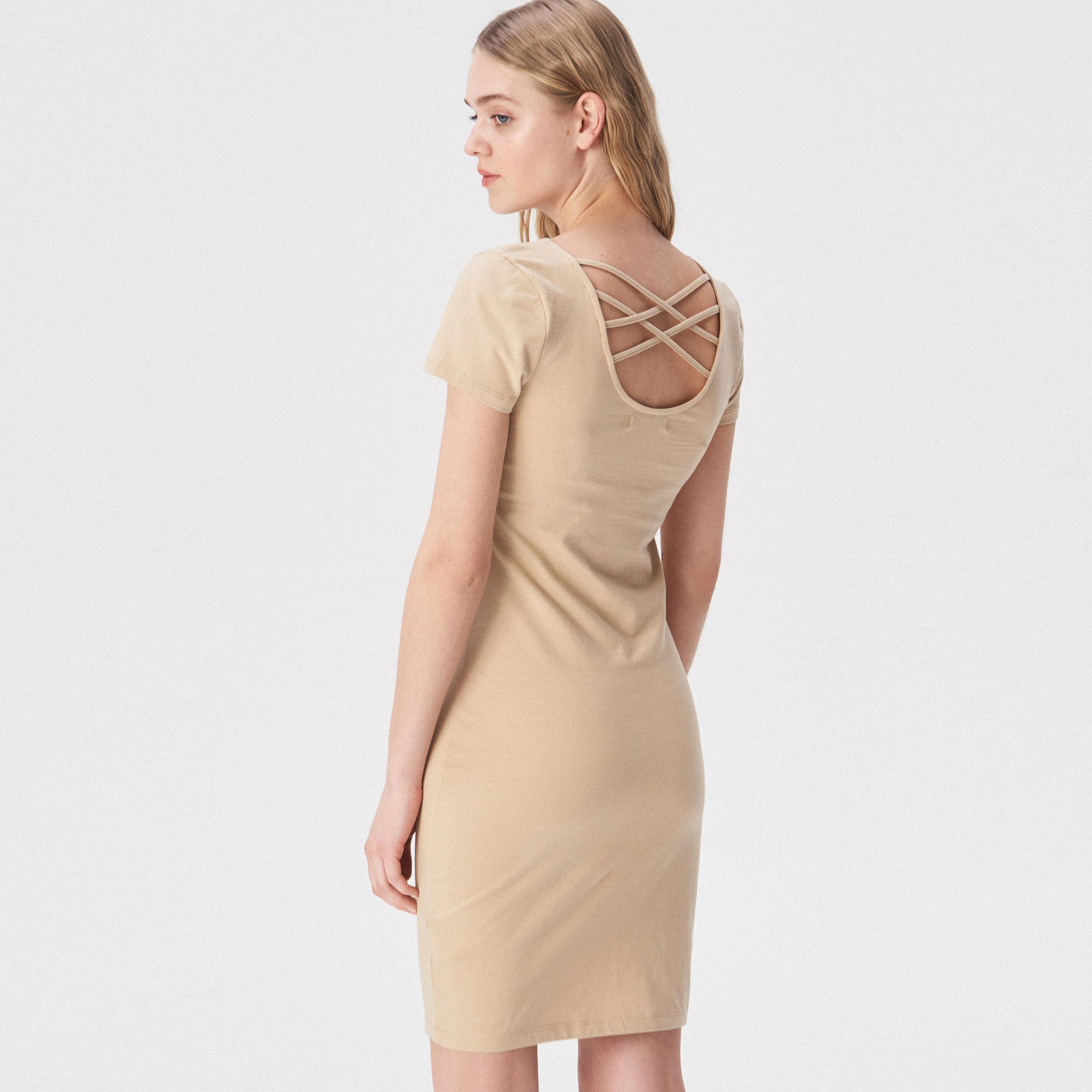 1f37322f90 Sinsay - Šaty s ozdobným výstrihom - Krémová - Glami.sk