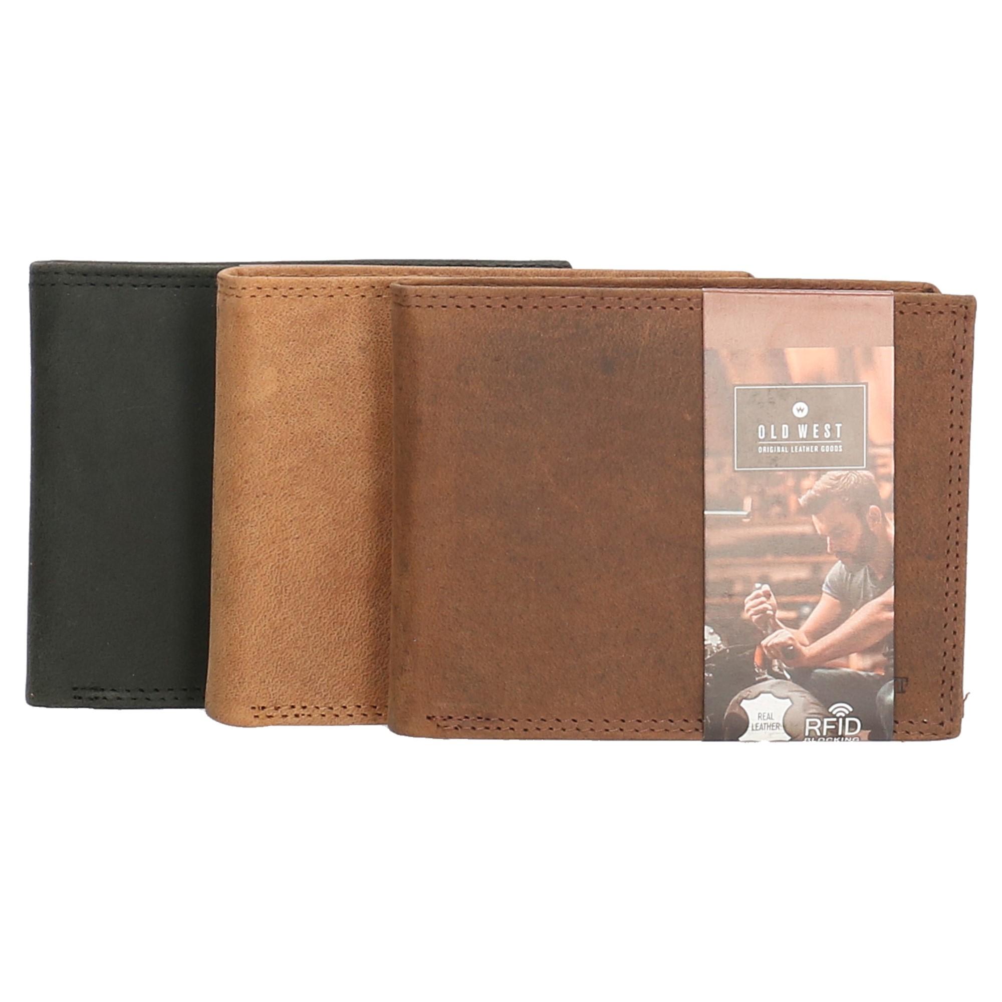 7c6425d6b Pánska kožená peňaženka z pravej kože Old West - v troch farbách ...