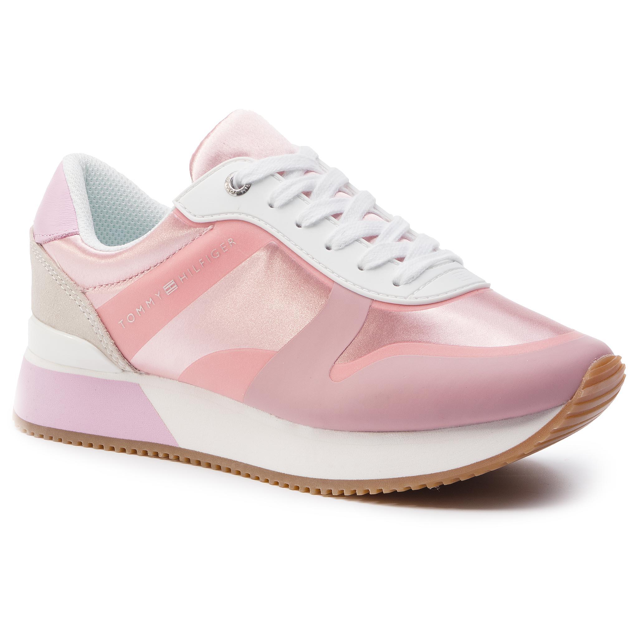 bb0efb75ac Sportcipő TOMMY HILFIGER - Pop Color Satin City Sneaker FW0FW04099 Pink  Lavender 518