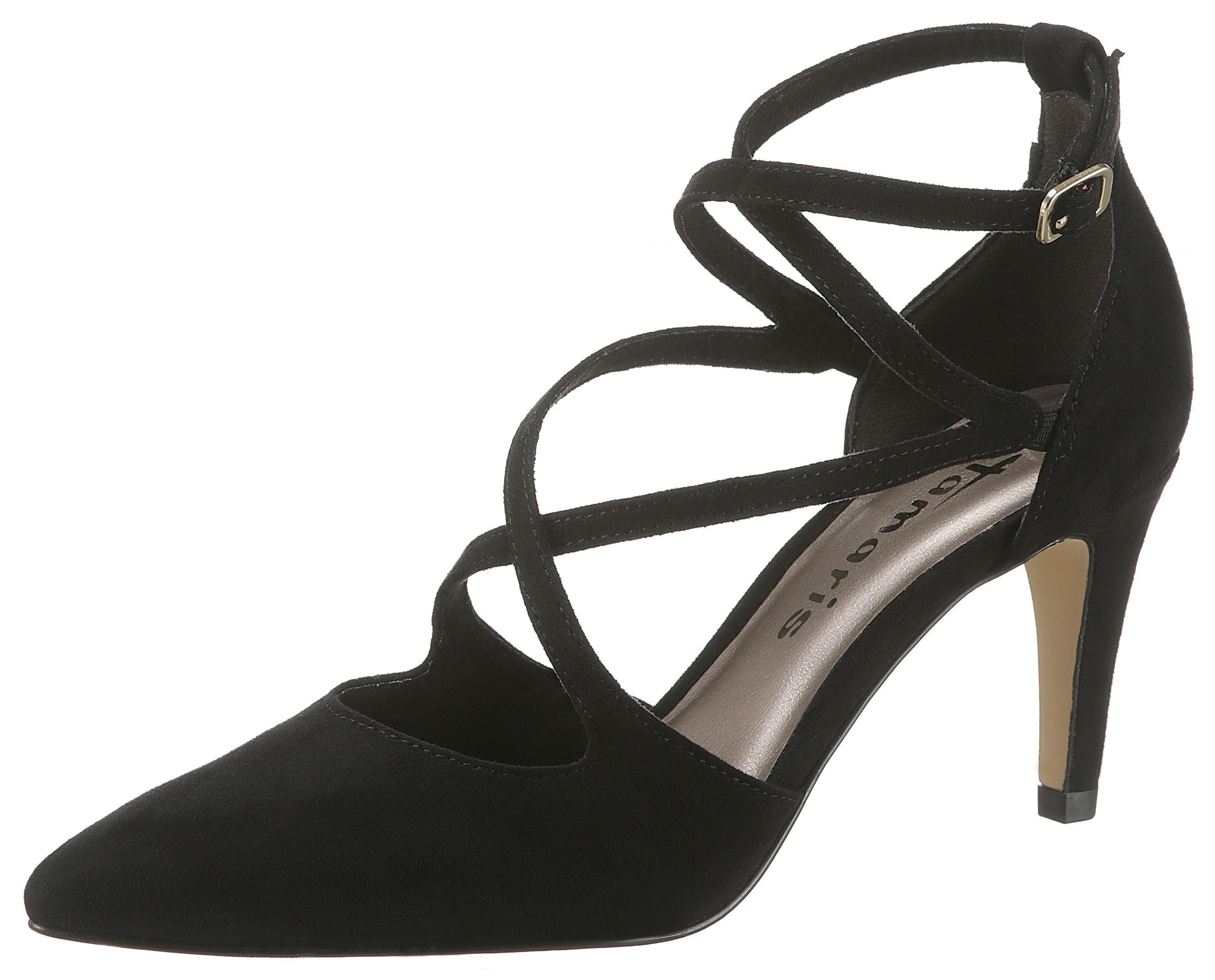 d3c4deff92aa ... elegantný špicatý tvar čierna. Nové Tamaris ...