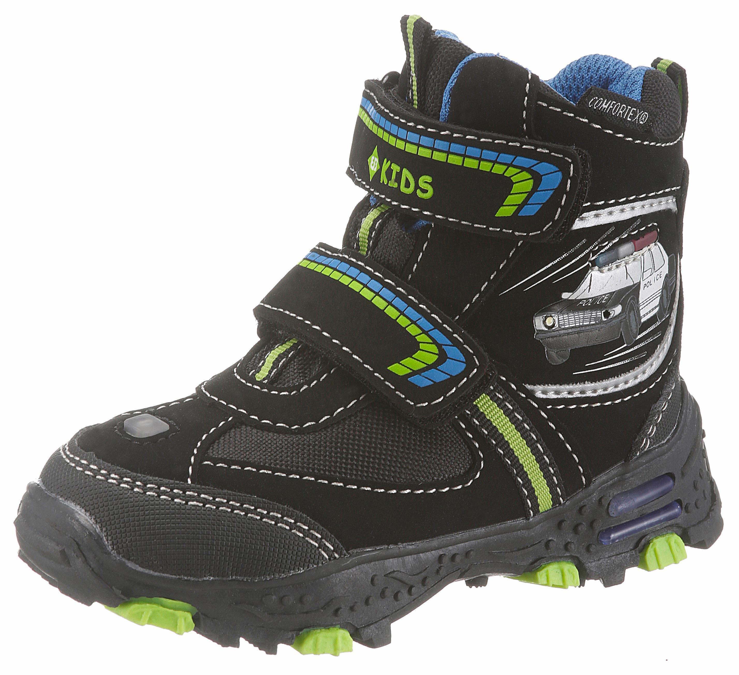 d5ec1a87409b4 BRÜTTING Zimná obuv »Flocky_V_Blinky« čierna-zelená-modrá - Glami.sk