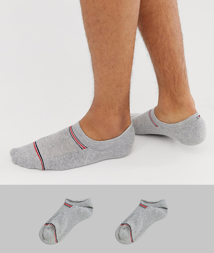 04e7152976 Tommy Hilfiger Iconic 2 pack invisible socks in grey - Grey - Glami.cz