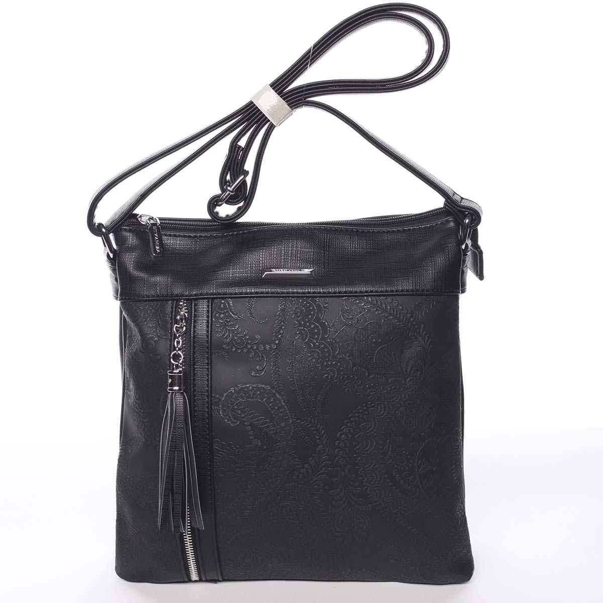 c8b8398f97 Originálna a módna čierna crossbody kabelka so vzorom - Silvia Rosa ...