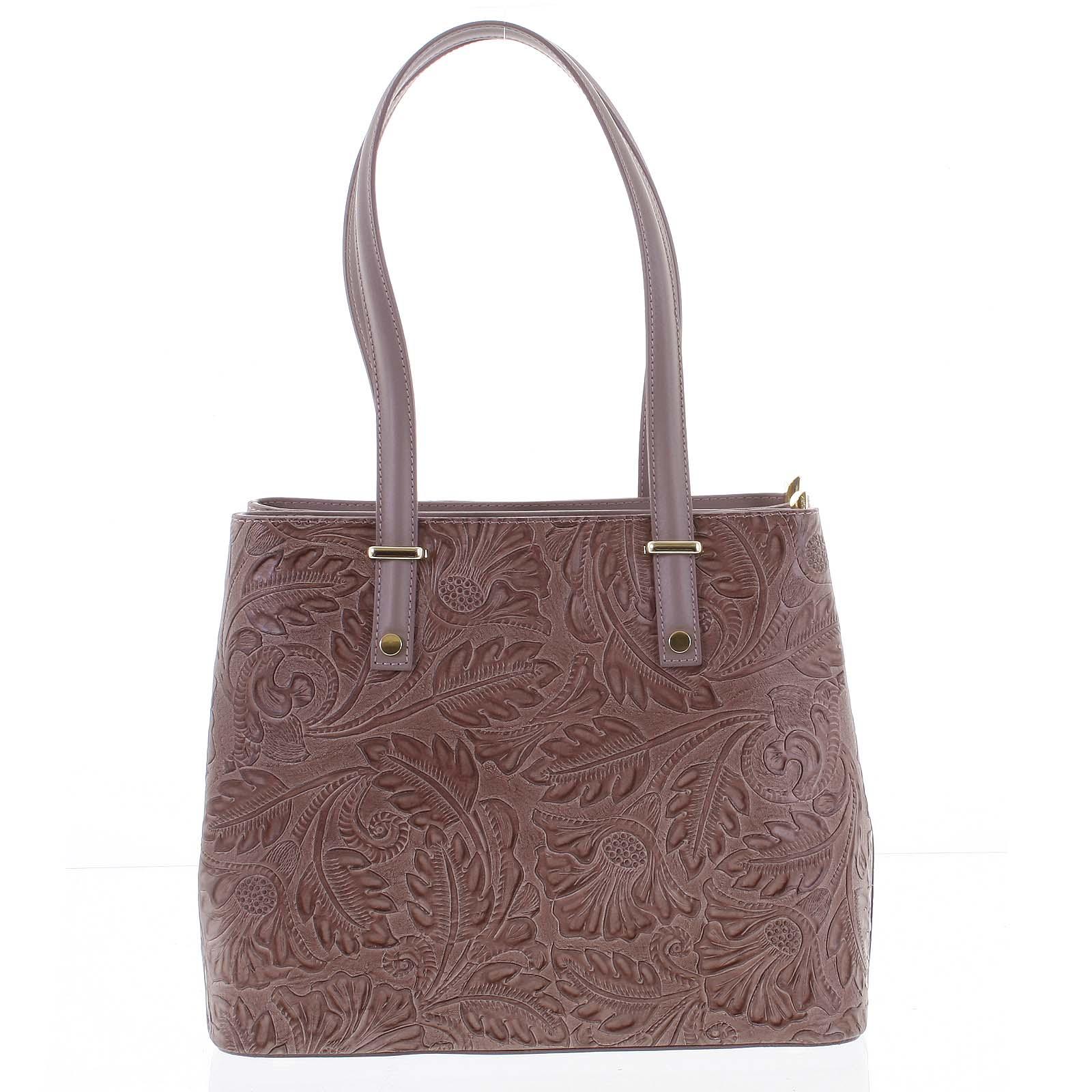 9756a0d7dc Exkluzivní dámská kožená kabelka tmavě růžová - ItalY Logistilla růžová. 1