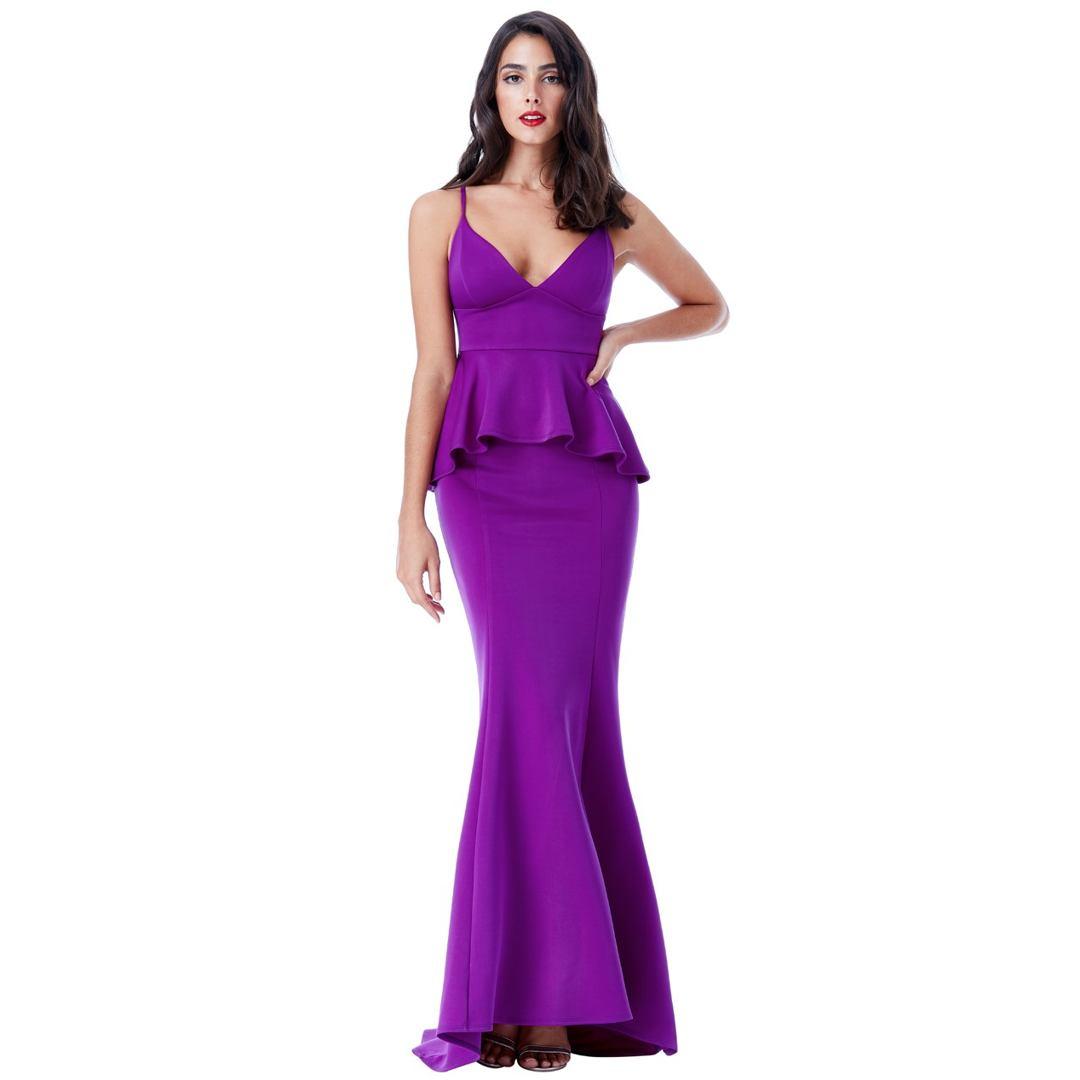 10384e31e260 City Goddess Spoločenské šaty Violka Fialka