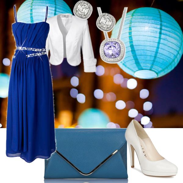 Modrá plesová