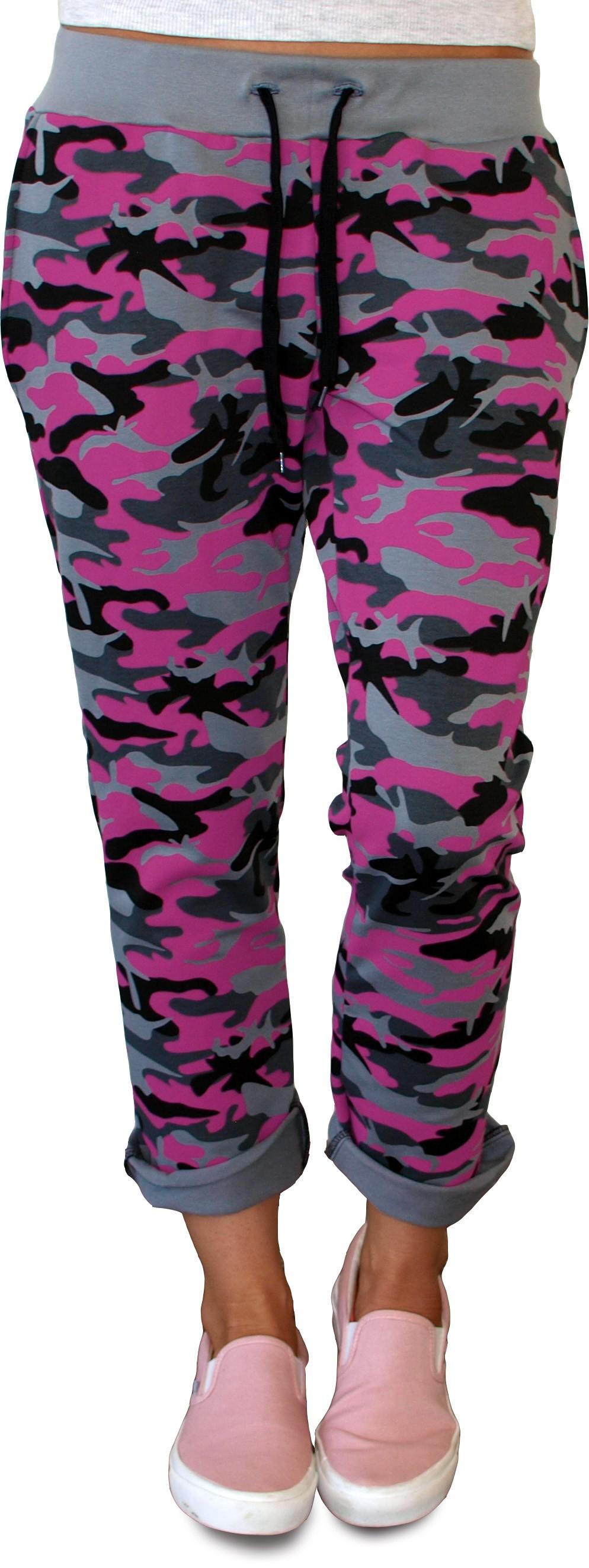 71594901d4 Dámske tepláky Barrsa Light Style camo   pink - Glami.sk