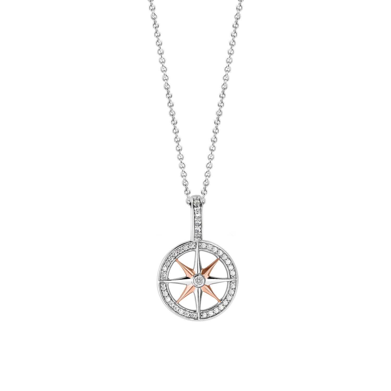 ceef333a6 TI SENTO MILANO Stříbrný přívěsek ve tvaru kompasu - Glami.cz
