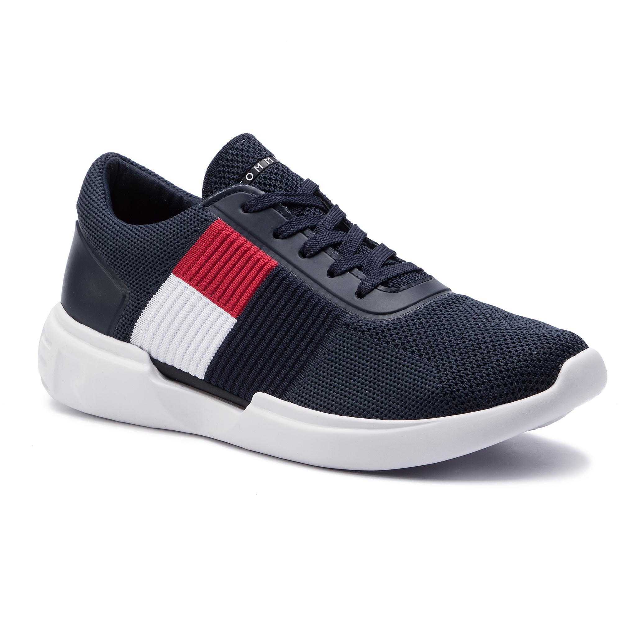576112b0fa Új Sportcipő TOMMY HILFIGER - Lightweight Runner Flag Knit FM0FM02275 Midnight  403
