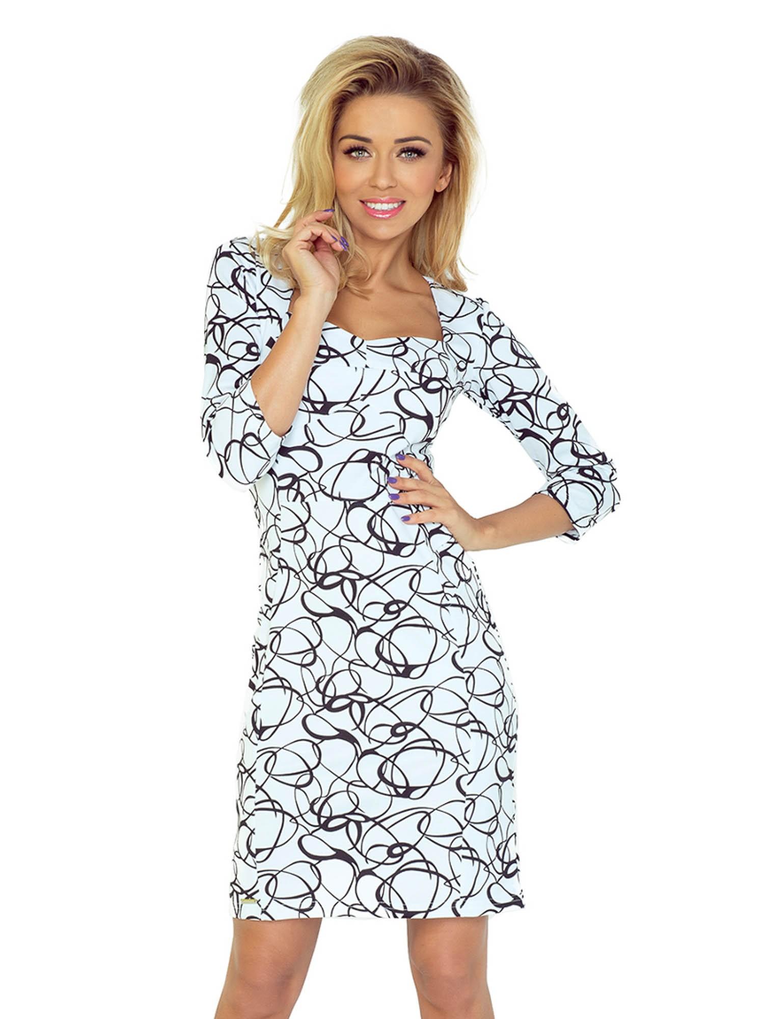 664d896ce ModneVeci Elegantné dámske šaty 136-1 s geometrickým vzorom - Glami.sk