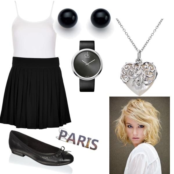 černo bílá moda
