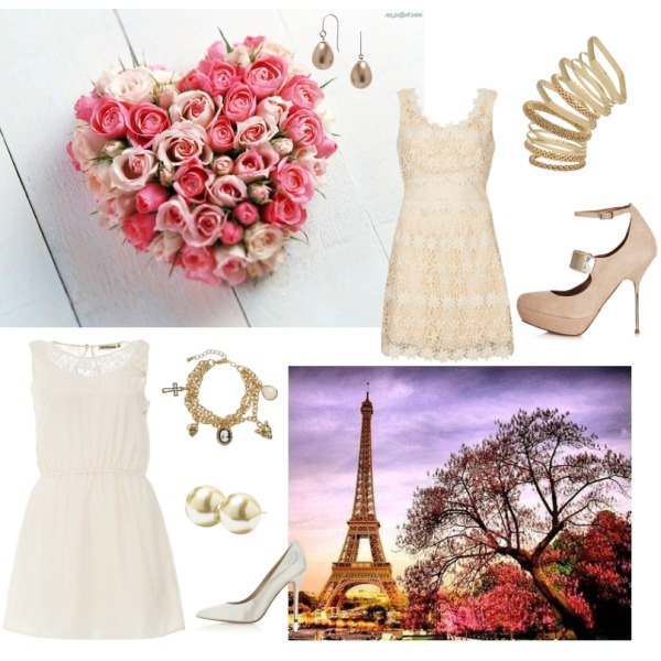 Rose night in paris