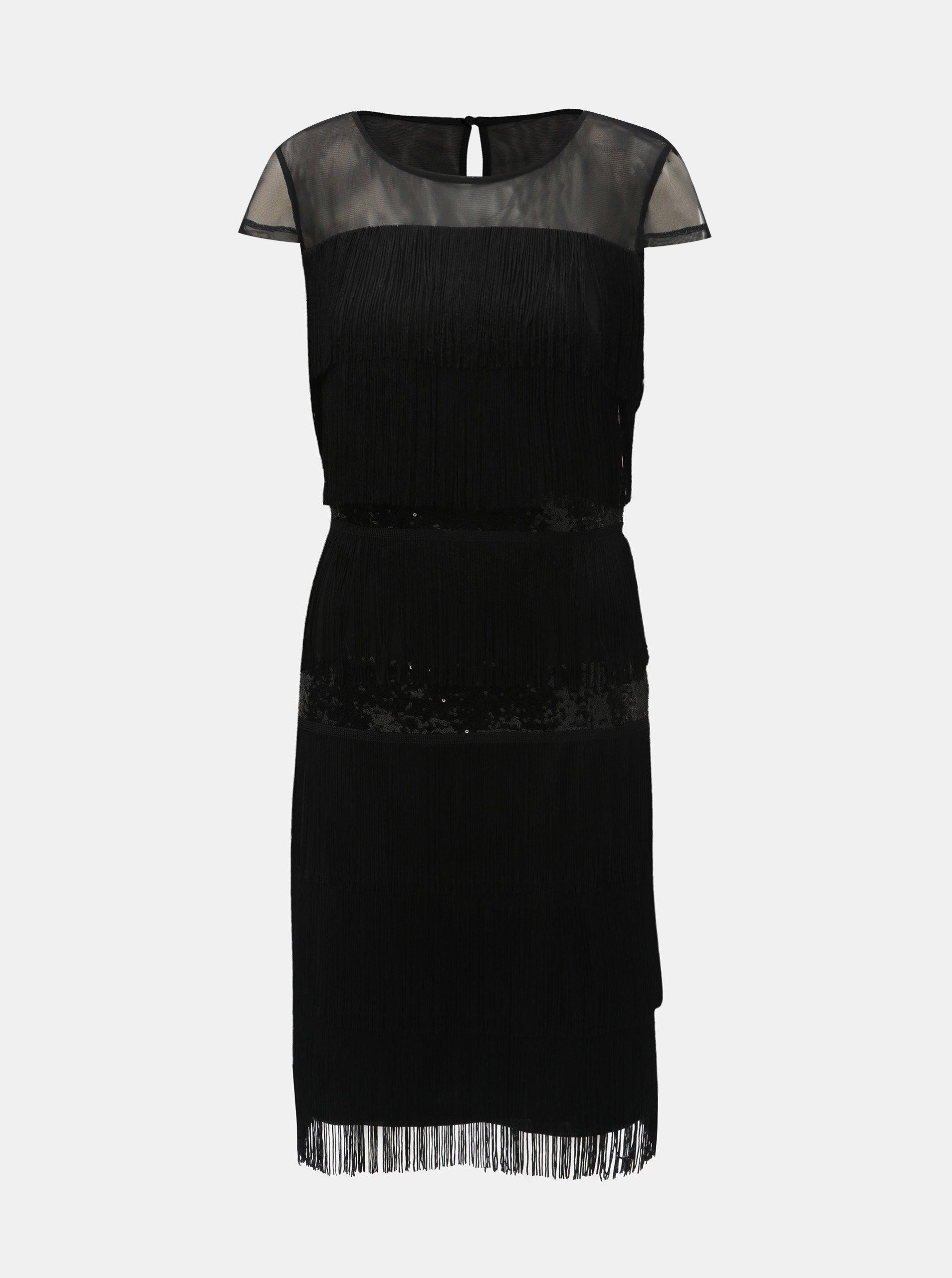 89d5a62311 Čierne šaty so strapcami a flitrami Lily   Franc by Dorothy Perkins ...