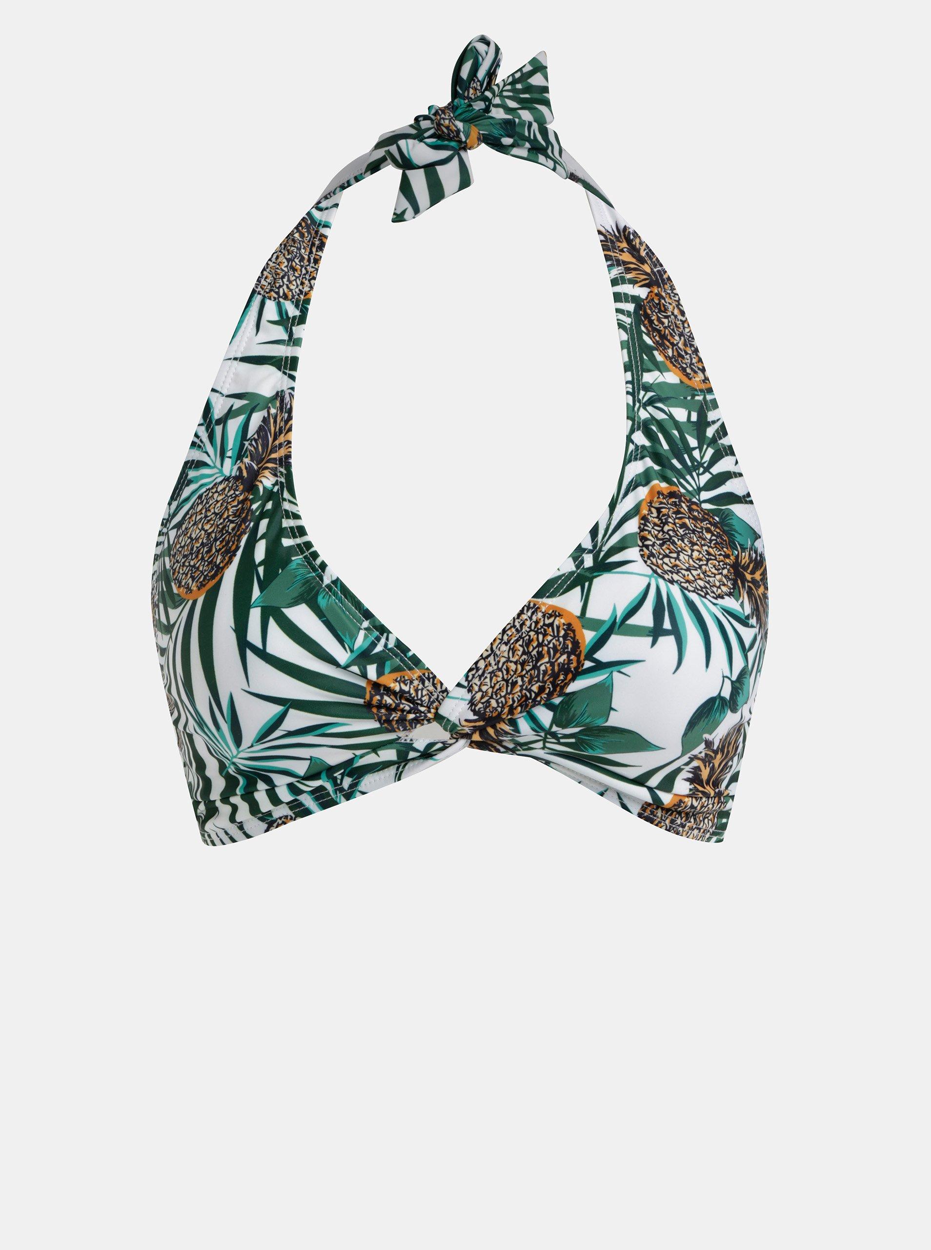 94edae1d0 Zeleno-bílý vzorovaný horní díl plavek Dorothy Perkins - Glami.cz