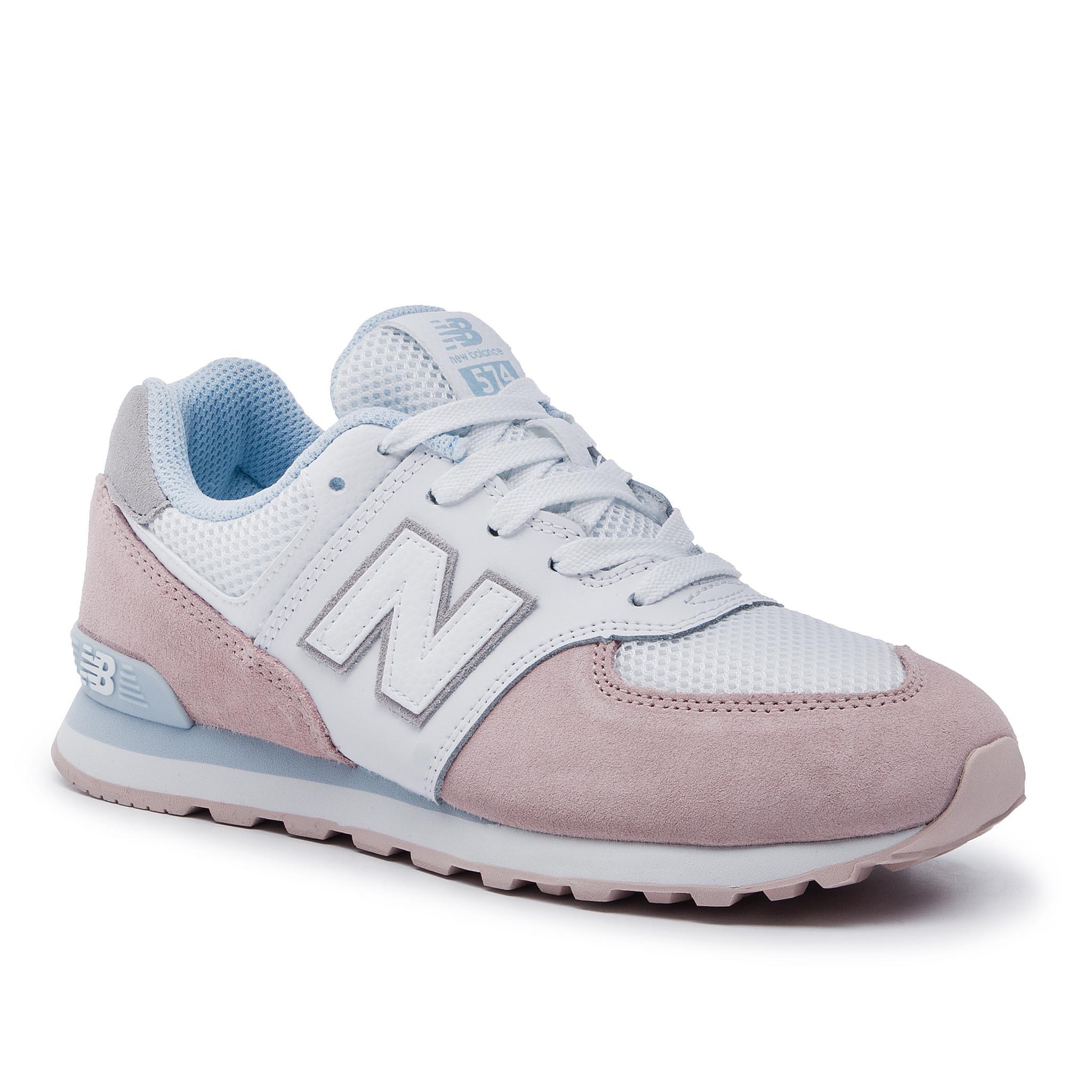 3d3e1c2e32f95 Sneakersy NEW BALANCE - GC574NSE Biela Ružová - Glami.sk