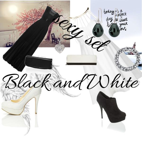 černá se hodí nejvíce k bílé :D/*