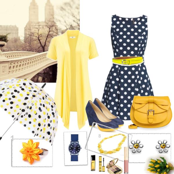 Žlutá, modrá a puntíky :)