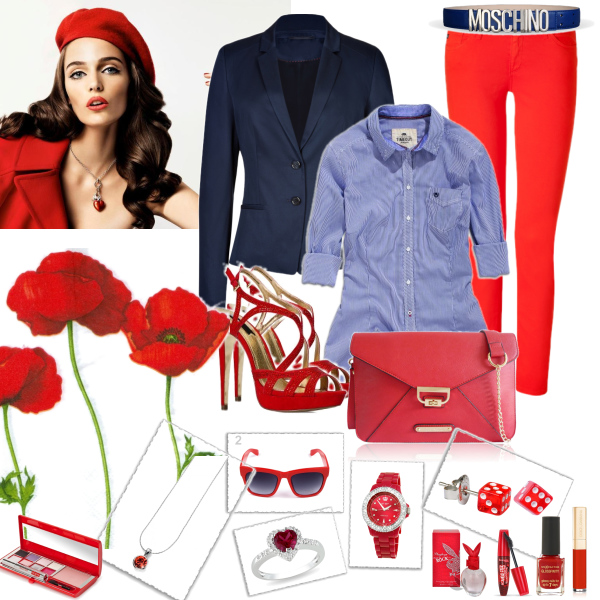 Red look.