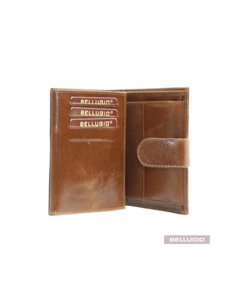 718d679349 Bellugio Elegantná kožená peňaženka AM-21-073 - hnedá - Glami.sk