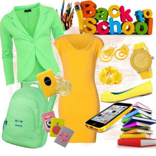 Back to school - Yellow and Green