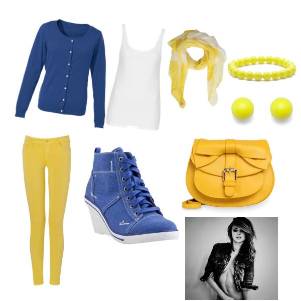 Modrá bílá a žlutá :)
