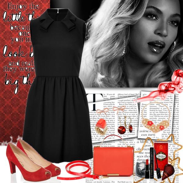 red/black lady