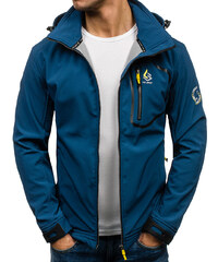 Modrá pánská softshellová bunda Bolf 004A 0d091567793