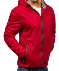 fc549b9bce23 Červená pánská přechodová bunda Bolf 8012