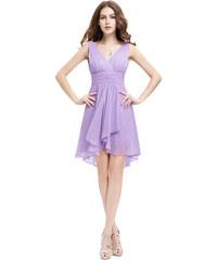 Ever Pretty šifonové šaty krátké fialové 3644 80cfb86be2