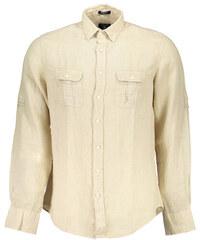 Béžové pánské košile  dbff46e3a6