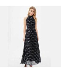 LM moda A Letní šaty černé s puntíky bez rukávů 871 bea8a47844
