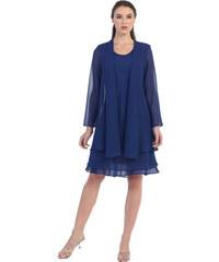 Glamor Dámsky spoločenský kostým modrý e6b12945ad9