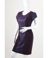 9576b53cb9d0 Glamor Krátke biele spoločenské šaty s čipkovaným kabátikom. Detail  produktu. Glamor Koktejlové krátke fialové šaty