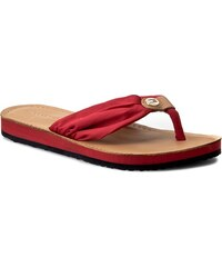 Žabky TOMMY HILFIGER - Leather Footbed Beach Sandal FW0FW00475 Tango Red 611 0a6e0c5c7b8