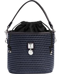 Dámská kožená kabelka Goshico modrá černá c7f05e31f97