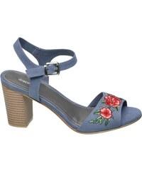 graue mit absatz sandalen und sandaletten f r damen. Black Bedroom Furniture Sets. Home Design Ideas