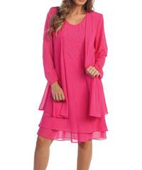 Glamor Dámske spoločenské ružové šaty na svadbu b143b17df33