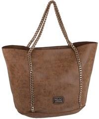Elegantná kabelka z eko kože Kbas s retiazkovými popruhmi medená 7a5a3e66c32